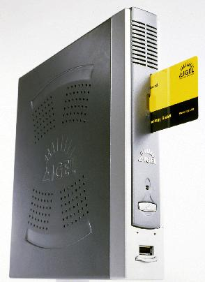 Compact thin client features Via Eden CPU, embedded Linux OS