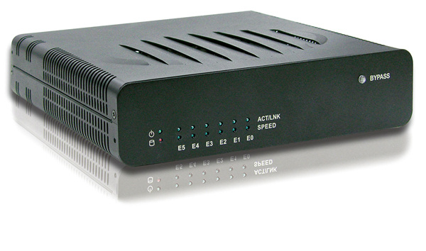 Compact network appliance sports six gigE ports