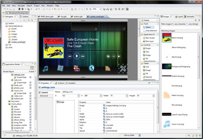 GUI design app targets embedded devices