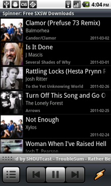 Android media players coming now (Winamp) and soon (HuluPlus)