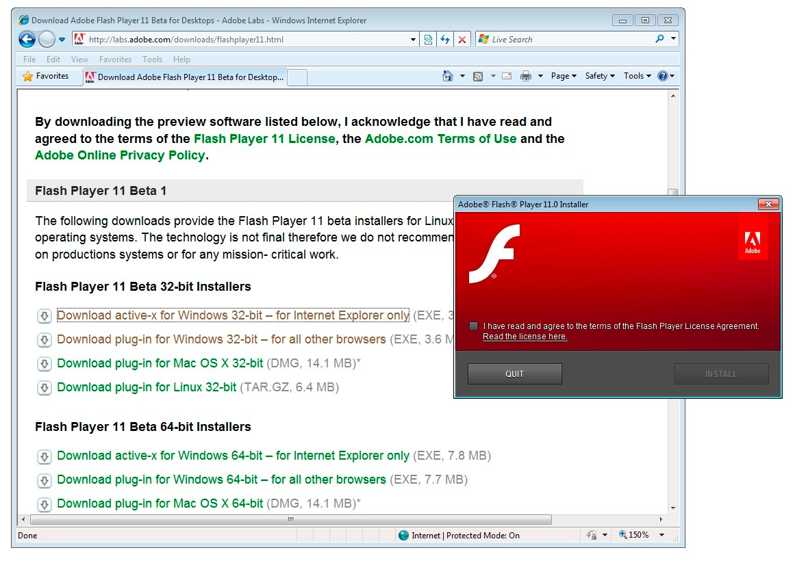 download adobe flash player internet explorer 64 bit windows 7